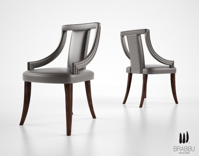 3dsmax brabbu eanda dining chair
