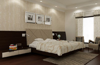 luxury interior bedroom scene