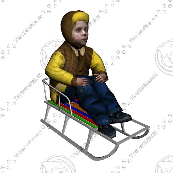 boy sled 3d 3ds