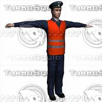 3dsmax railwayman railroader