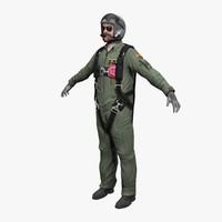 3d model pilot realtime