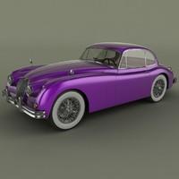 3d 1958 xk150 coupe