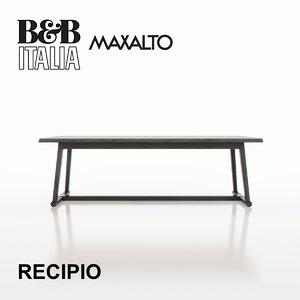 3d b italia maxalto recipio model