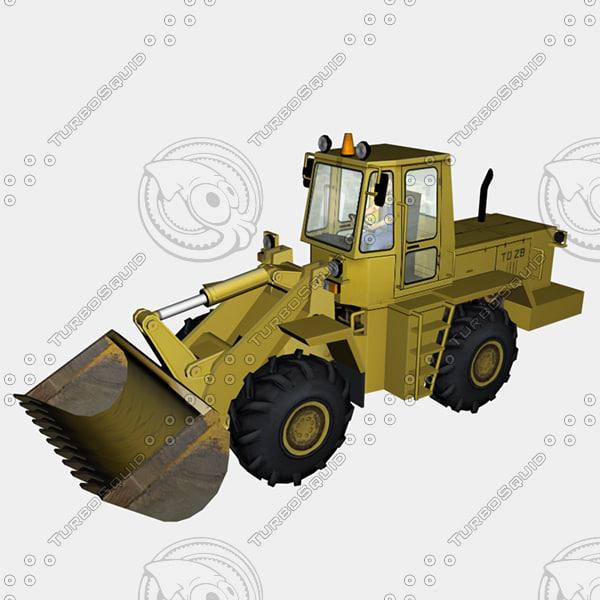 bulldozer 3d obj