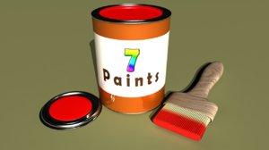 paint liquid color 3d obj