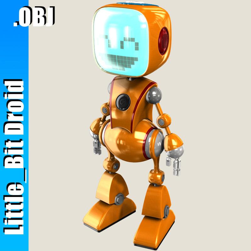 robot bot cabby 3d model