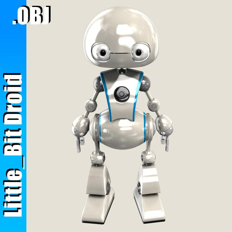robot bot puffy 3d obj