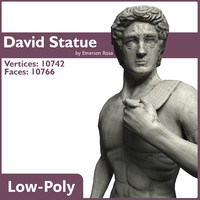 Low-Poly - David by Michelangelo