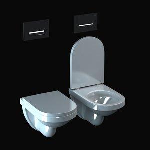 3d model duravit happy d toilet