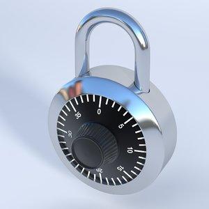 number padlock x
