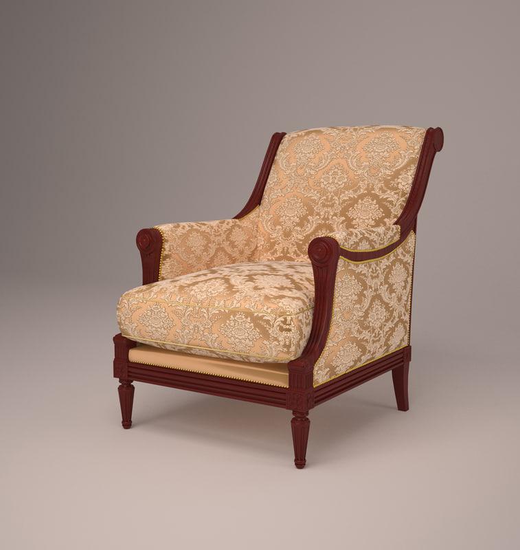 armchair classical 3d model