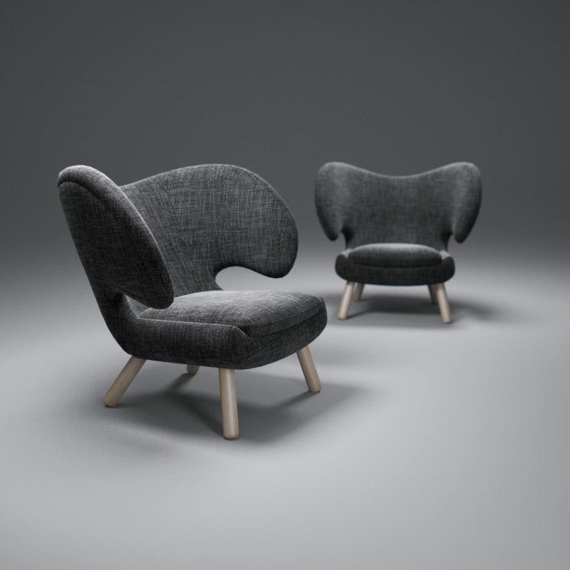 3d model of pelican-chair