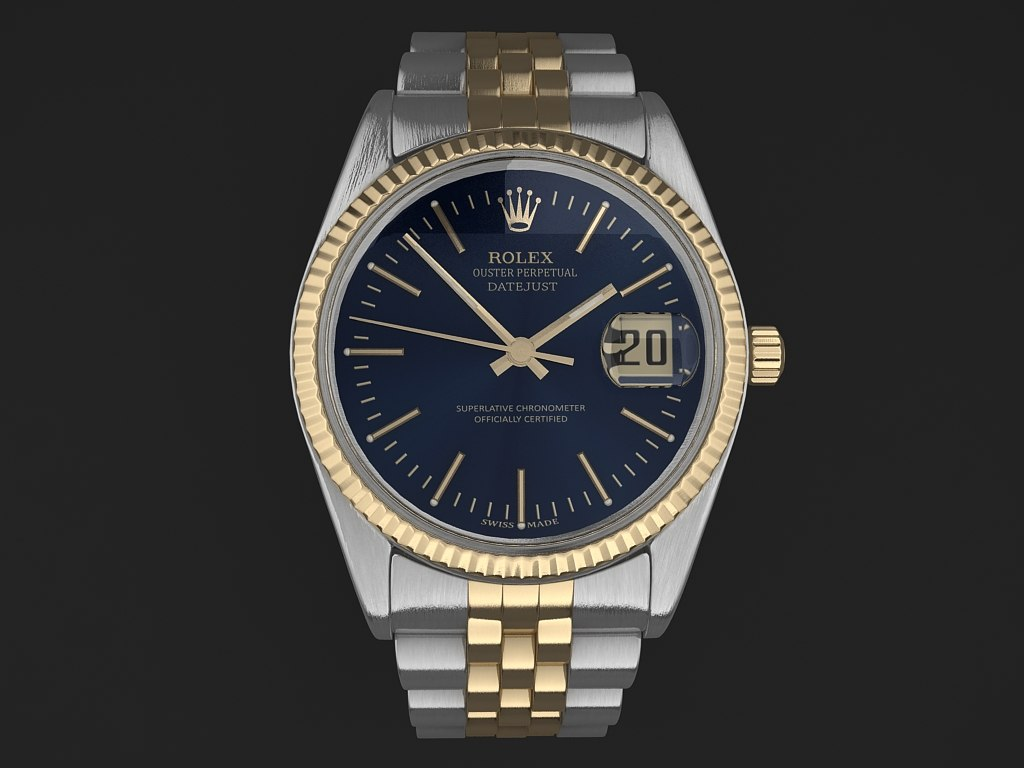 3ds max rolex watch date