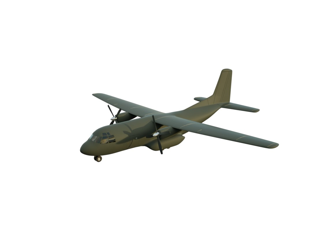 military transportation aircraft 3d obj