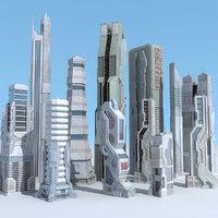 Sci Fi Building 12 Futuristic
