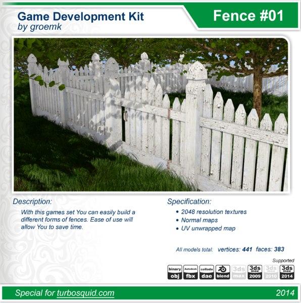 build fences 3d model
