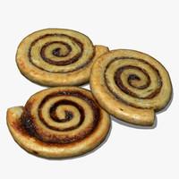 3d obj cinnamon swirl