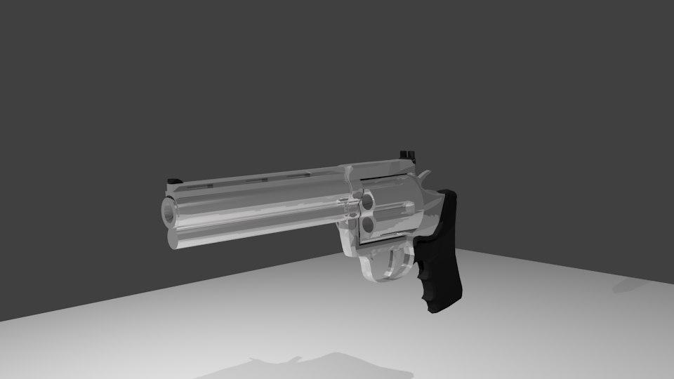 3d model colt anaconda gun