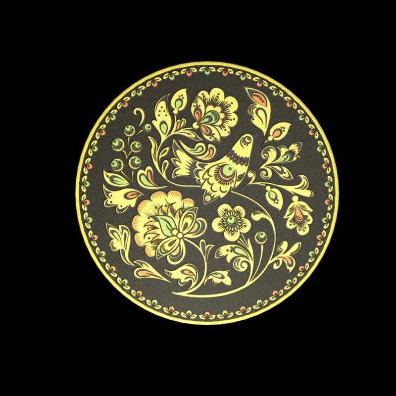 maya tableware tray khokhloma