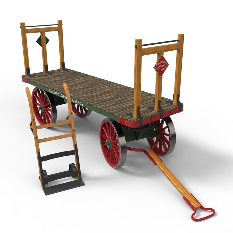 3d baggage cart dolly
