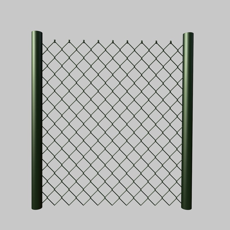 cinema4d parametric chain link fence wire