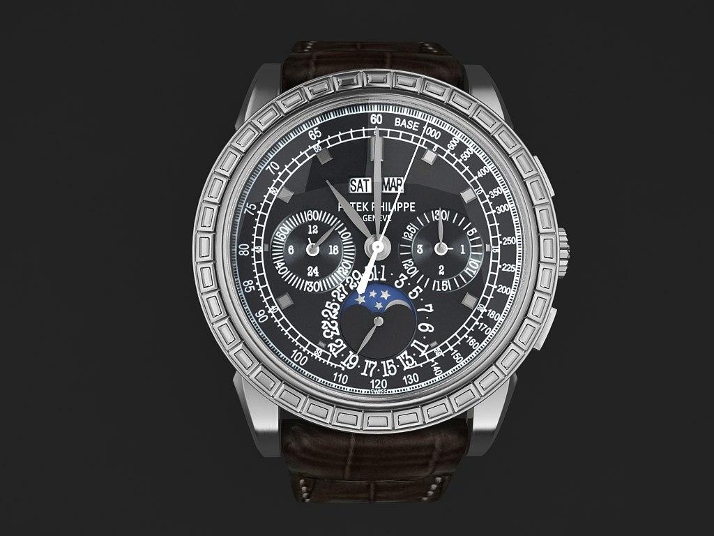 watch mens 3d model