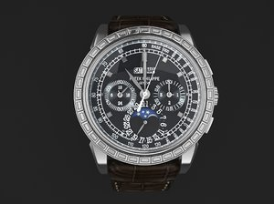 watch mens 3d model