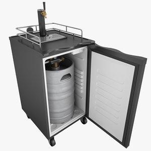 3d tap beer refrigerator model