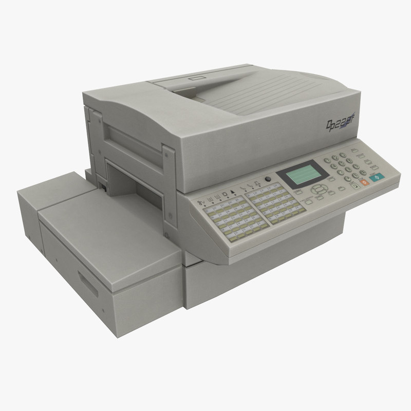 fax machine 3d obj