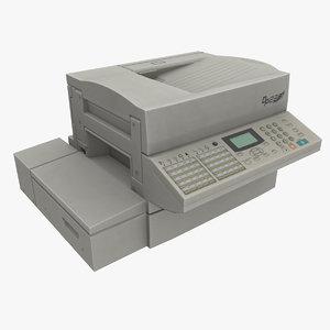 fax machine 3d obj