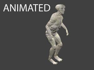 3d alien creature animations