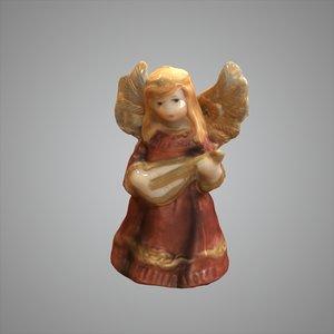 angel harp 3d model