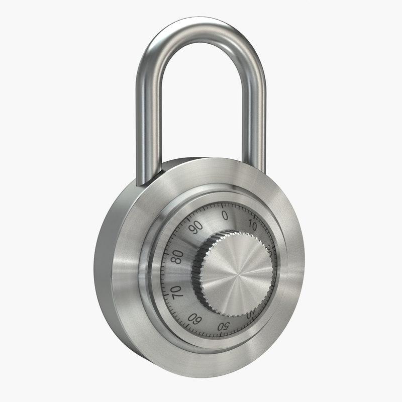 obj combination padlock