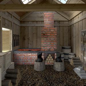 max blacksmith interior