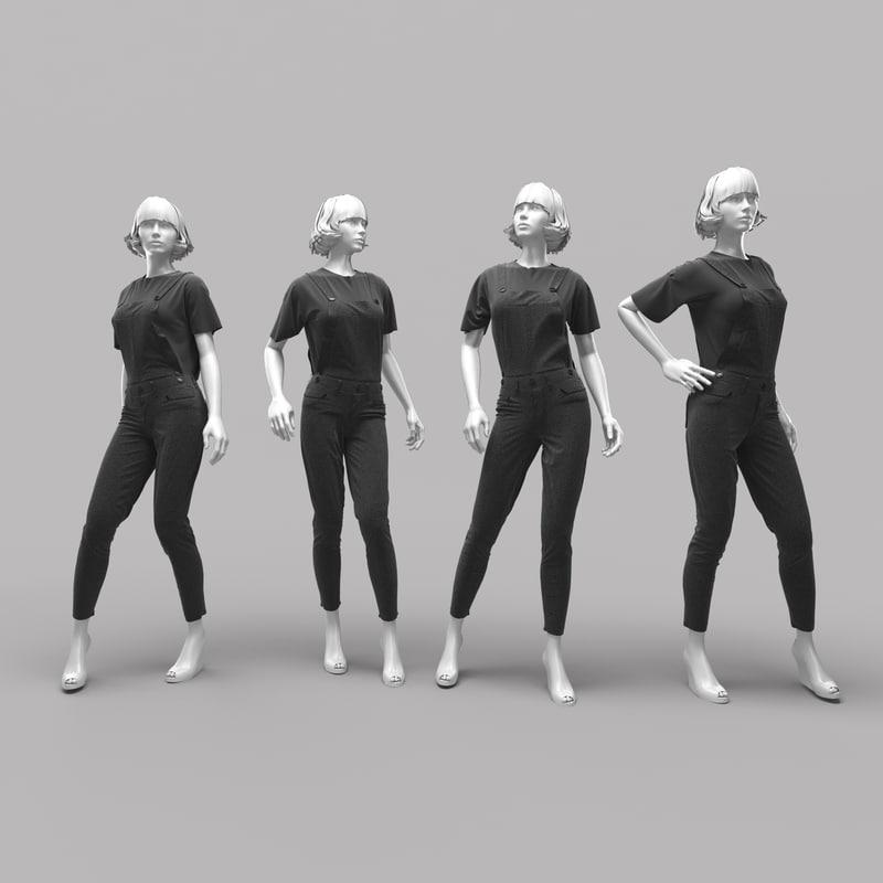 3d model mannequin clothes
