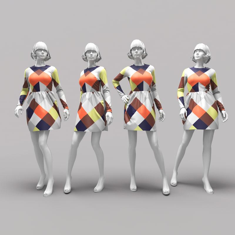3d mannequin dress