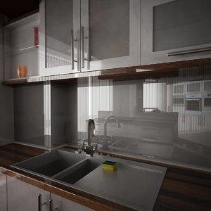 3d model kitchen sponge 1