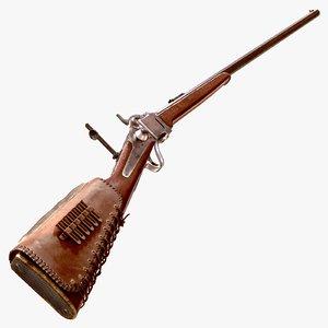 next-gen 1874 sharps rifle 3d model
