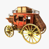 Stagecoach With Luggage