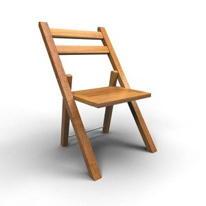 3d rigged chair