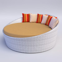 circular day bed 3ds