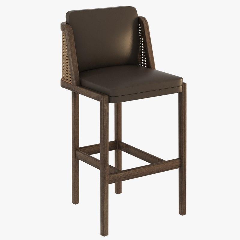 throne bar stool autoban 3d max