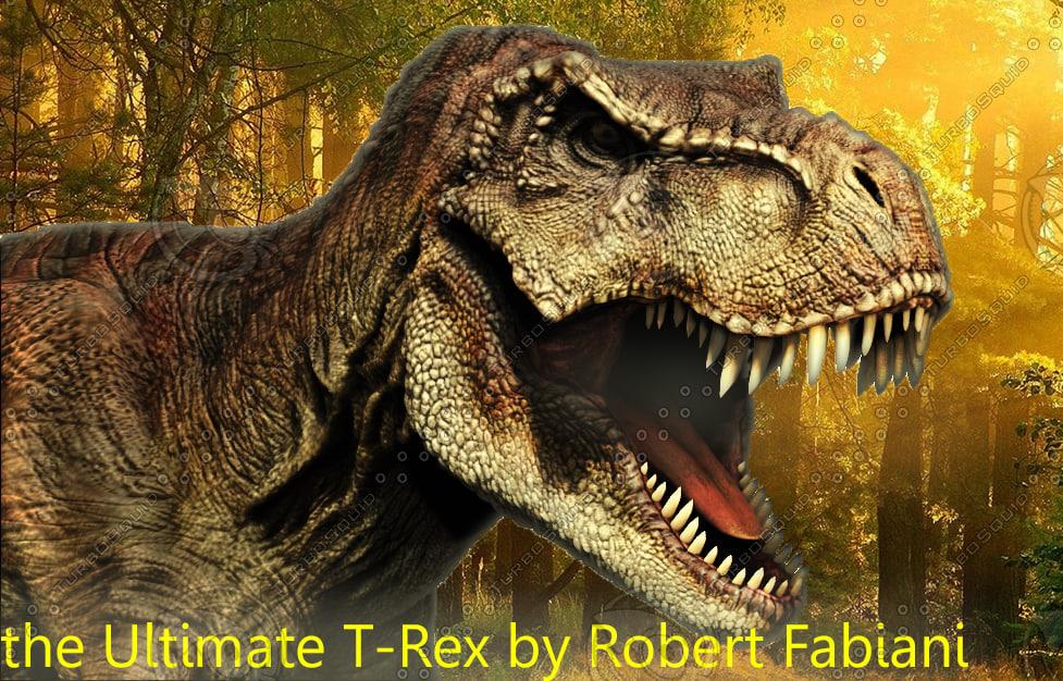 3d model t-rex modeled
