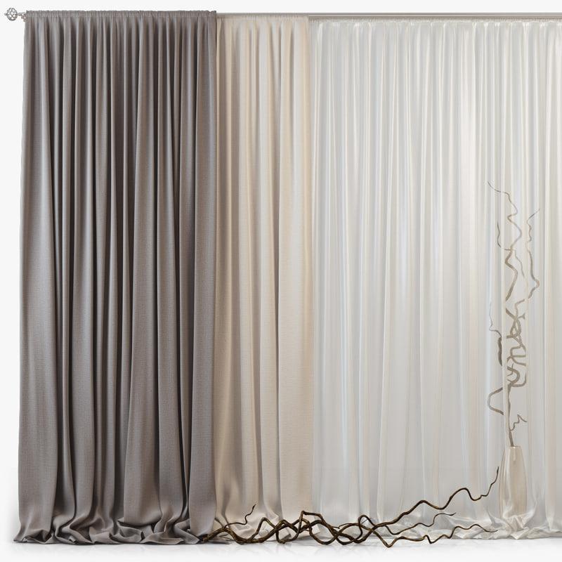 3d curtains m05 model