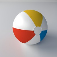 beach ball 3d 3ds