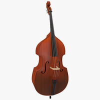 double bass 3d model