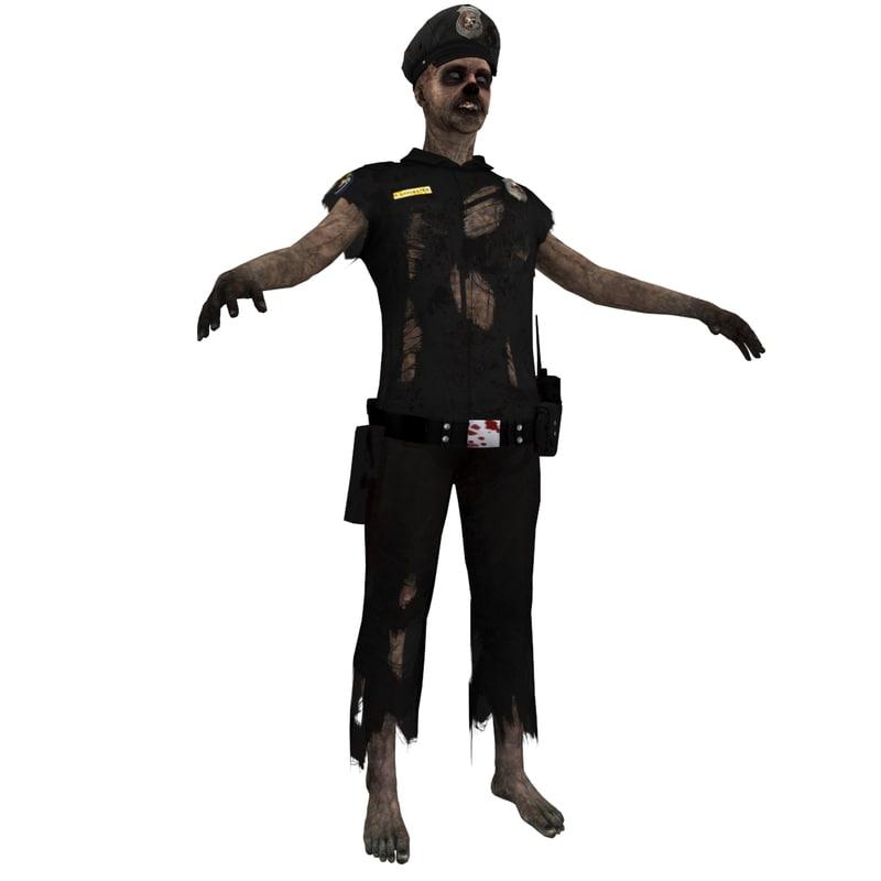 zombie police 3 3d max