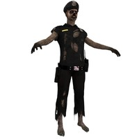 zombie police 3 3d max