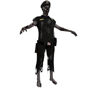 3d zombie police model