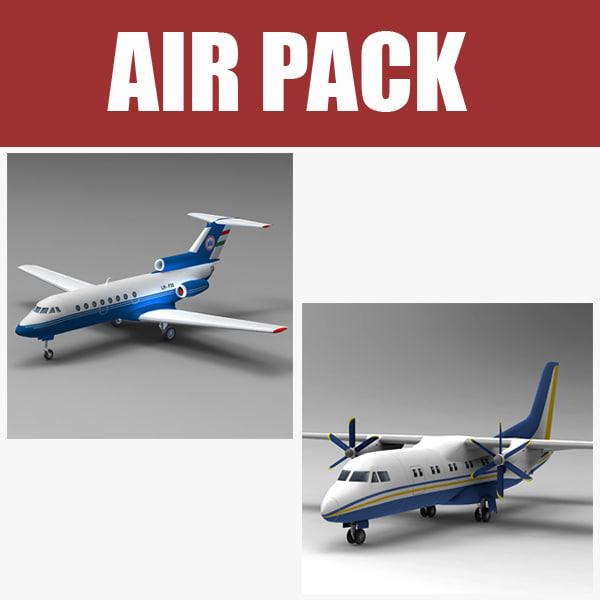 3ds max jak40 airliner